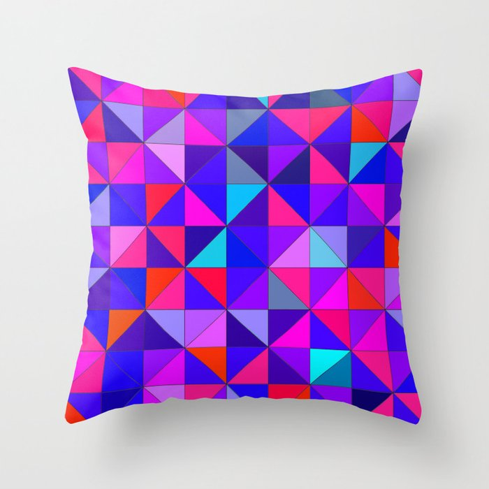 Blue and Red Throw Pillow by hannahlancaster Society6