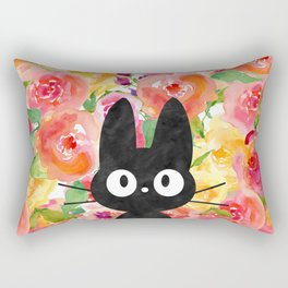 Jiji in Bloom Rectangular Pillow