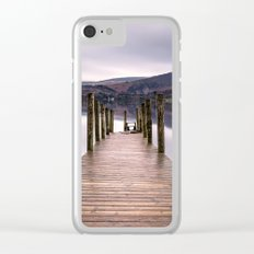 Lake View with Wooden Pier Clear iPhone Case