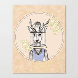 Deer Cage Head Canvas Print