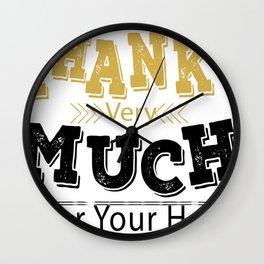 Creative Font Design Wall Clock
