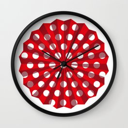 Lantern of white polka dots Wall Clock