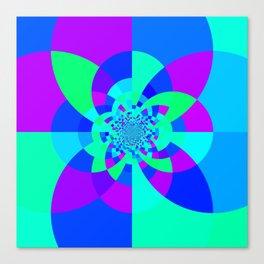 Orchid Aqua Turquoise Kaleidoscope Canvas Print