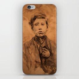 watercolor portrait of victorian boy iPhone Skin