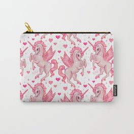Pink Unicorn Pegasus Carry-All Pouch