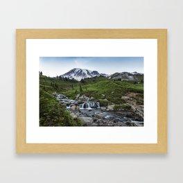 Edith Creek and Mount Rainier Framed Art Print