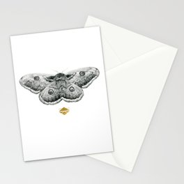 Perseverance - Moth Graphite Drawing by Brooke Figer Stationery Cards
