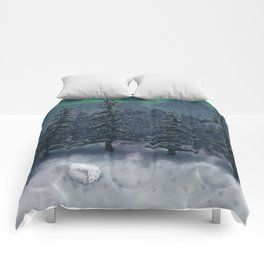 Wintry Forest Comforters