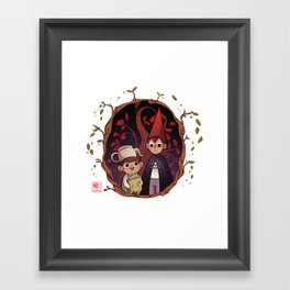 Over the garden wall Framed Art Print