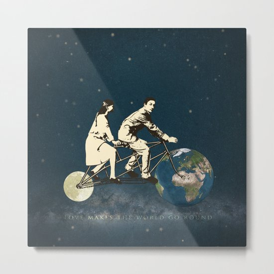 Love Makes The World Go Round Metal Print