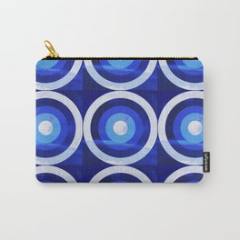 HOMEMADE 70S BLUE TARGET PATTERN Carry-All Pouch