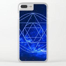 Geometric Stars Clear iPhone Case
