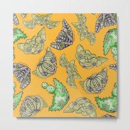 """""""Oro?"""" Cactus Mustard Metal Print"""