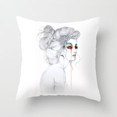 The Girl // Fashion Illustration Throw Pillow