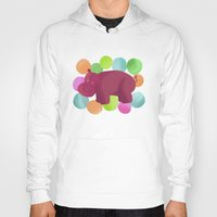 hippo Hoodies featuring Hippo by Katy Welte