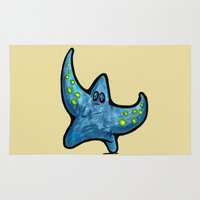 starfish Area & Throw Rugs featuring Starfish by Michael Hewitt