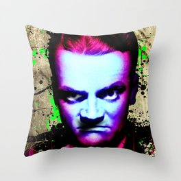 James Cagney, angry Throw Pillow