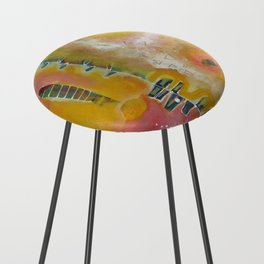 Sunny Disposition Counter Stool