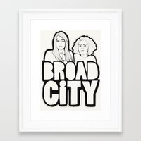 broad city Framed Art Prints featuring Broad City by Black Neon