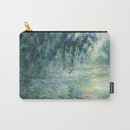 1898-Claude Monet-Morning on the Seine- 73 x 91 Carry-All Pouch