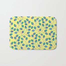 Coloured Leaves and yellow Bath Mat