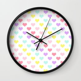 Pretty & Cute Sweet Colourful Love Hearts Collage Decor Wall Clock