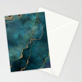 Golden Gemstone Glamour Mineral Stationery Cards