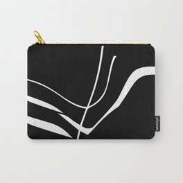Organic No. 8 White on Black Minimalism #design #society6 #decor #artprints Carry-All Pouch