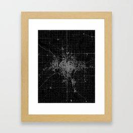 Wichita map Kansas Framed Art Print