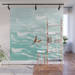 Out on the waves Wall Mural