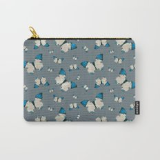 Spring Butterfly (Blue Pattern) Carry-All Pouch