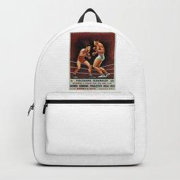 vintage travel poster politeama garibaldi vintage boxing 1941 Backpack