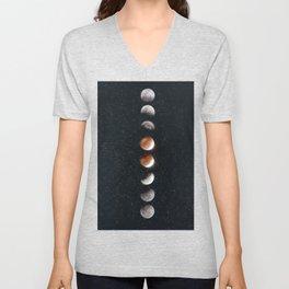 Phases of the Moon II Unisex V-Neck