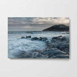 Blue hour at Bracelet Bay Metal Print