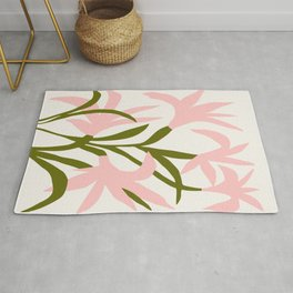 Floral Print, Flower Meadow, Large Giclee Print from Painting, Wall Art, Abstract Meadow Print, pink Rug