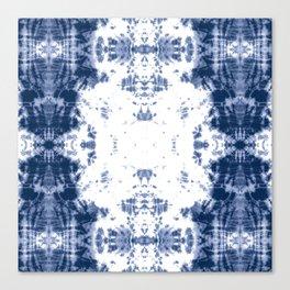 Shibori Tie Dye 5 Indigo Blue Canvas Print