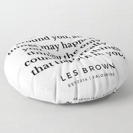 28  |  Les Brown  Quotes | 190824 Floor Pillow