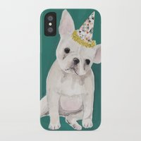 puppies iPhone & iPod Cases featuring Party puppies  by Jackie Diedam