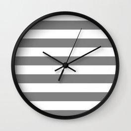 Horizontal stripes / gray Wall Clock
