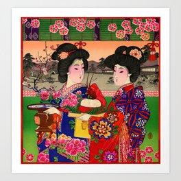 Two Geishas Art Print