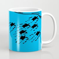 turtles Mugs featuring Turtles!!! by designx79