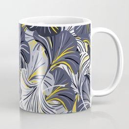 Big grey flowers, petals, leaves Coffee Mug