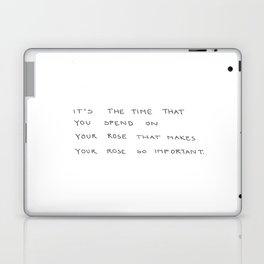 time spent on rose Laptop & iPad Skin