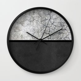 Rock the Casbah // concrete and paint colorblock collage Wall Clock