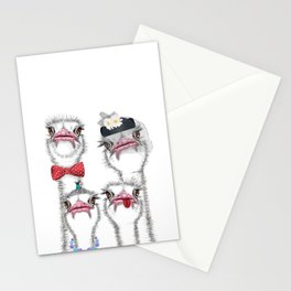 Ostrich family 2 Stationery Cards