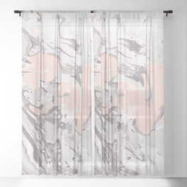 Effect Marble pink Sheer Curtain