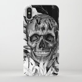 Black White Boho Skull iPhone Case