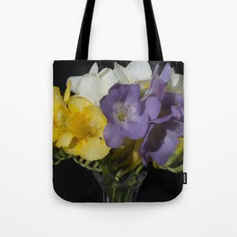 Cupertino's Fragrant Freesias Tote Bag