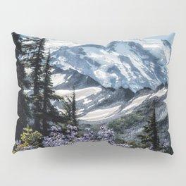 Scenic Art, Mt. Rainier, Mt. Rainier National Park, Spray Park Pillow Sham
