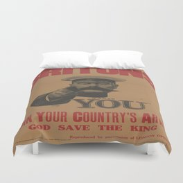 Vintage poster - British Military Duvet Cover